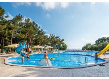 Открытый бассейн  в пансионате Приветливый берег Геленджик
